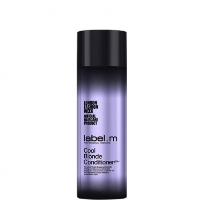 LABEL.M COOL BLONDE CONDITIONER- BALSAM CE NEUTRALIZEAZA NUANTELE CALDE DE GALBEN DIN PAR 250 ML